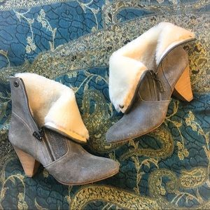 Matt Bernson Shoes - Matt Bernson Minx Grey Shearling/Cream Boots 8